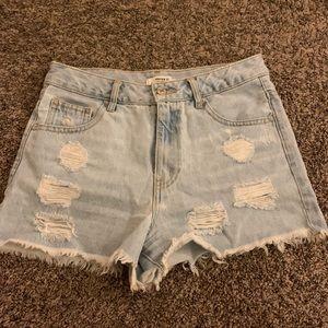 Forever 21 Light Wash Denim Shorts